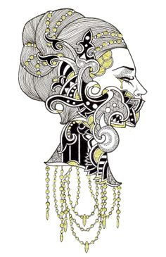 Ennui by Sebastiana by M. de Vena #illustration #drawing
