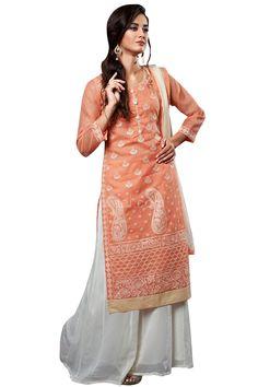 Beautiful party wear Palazzo Suit #PallazoSuit #chiffon #pallazo #indowestern #Rajwadi