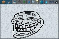 Problem ? #pixelart #trollface