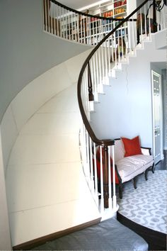 The Color Issue: Love this house, including the stair slide! Small Space Interior Design, Interior Design Living Room, Stair Slide, House Slide, Indoor Slides, Diy Casa, Home Upgrades, My Dream Home, House Colors