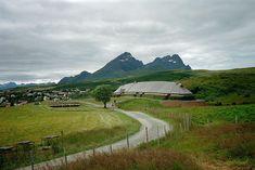 Høvdinghuset, a viking long house at Borg in Lofoten, Norway