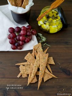 These crisp, shattery Rye Sourdough Crackers are a great use for extra sourdough starter (or a reason to keep a starter in your fridge simply to make them).