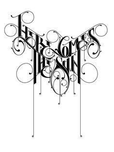 Tattoo Fonts Typography Behance 34 New Ideas Tattoo Lettering Fonts, Graffiti Lettering, Lettering Design, Calligraphy Letters, Typography Letters, Bold Typography, Desenho Tattoo, Typography Inspiration, Letter Art