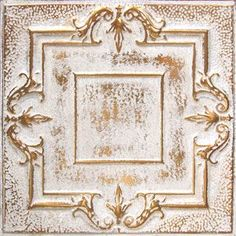 American Tin Ceiling Tiles: Pattern #10 in Copper Washed White