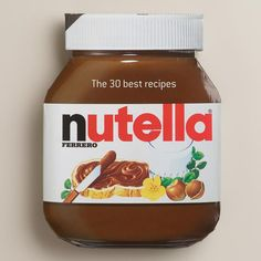 """""""Nutella: The 30 Best Recipes"""" Cookbook $12.95 By Larousse Hardcover https://api.shopstyle.com/action/apiVisitRetailer?id=457355763&pid=uid841-37799971-81"""
