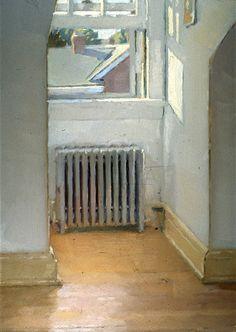 Mark Karnes Dormer Window, 1998. Oil on board. (via)