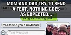 Mom And Dad Try To Send a Text, Nothing Goes As Expected