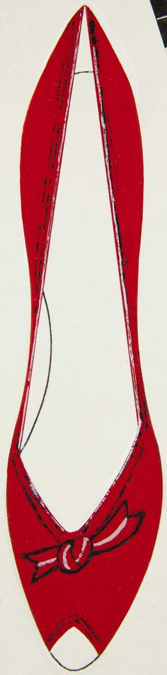 ANDY WARHOL (1928-1987)  Shoe  ink and tempera on paper  12 5/8 x 9 1/8 in. (32.1 x 23.2 cm.)  Drawn circa 1955.