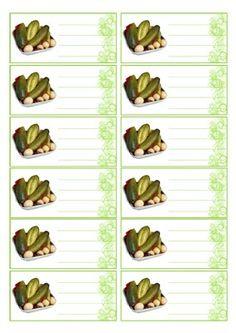 Food Labels, Pickles, Sprouts, Clip Art, Printables, Canning, Vegetables, Diy, Labels For Jars