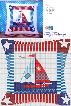 Yaz yastıklarından ikincisidir... Designed and stitched by Filiz Türkocağı...                                ( Summer cushion - 2 )