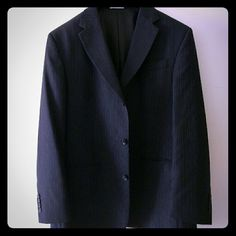Pinstripe blazer (men's) Excellent like new condition. Worn once for a wedding. Make an offer! Geoffrey Beene Jackets & Coats