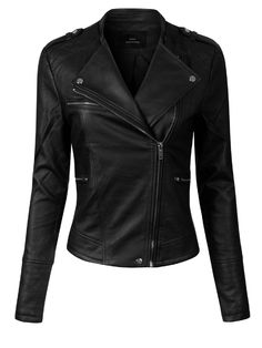 Looking for Design Olivia Women's Long Sleeve Zipper Closure Moto Biker Faux Leather Jacket ? Check out our picks for the Design Olivia Women's Long Sleeve Zipper Closure Moto Biker Faux Leather Jacket from the popular stores - all in one. Black Faux Leather Jacket, Leather Jacket Outfits, Faux Leather Jackets, Studded Jacket, Leather Jackets Online, Winter Outfits Women, Cute Casual Outfits, Stylish Outfits, Fashion Outfits