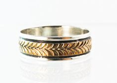 Navajo 12KGF Sterling Silver Band Ring Size 12