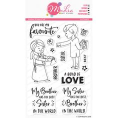 Brother&Sister - Stamp Sisters Drawing, Brother Sister Quotes, Sister Crafts, Love Scrapbook, Mommy Quotes, Arts And Crafts, Diy Crafts, Book Journal, Doodle Art