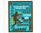 Subway Personalized Soccer Art