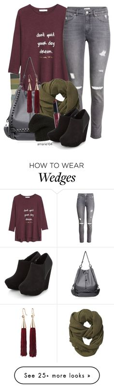 """Untitled #3461"" by amarie104 on Polyvore featuring Clinique, MANGO, H&M, Athleta, Phase 3, Eddie Borgo and Revlon"