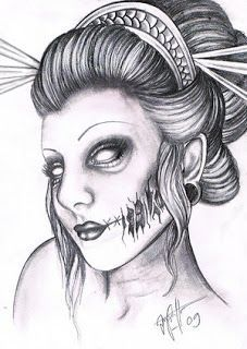 explore project zombie halloween project and more geishas zombies