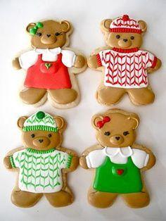 Bear Christmas Cookies