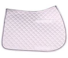 """Cashel All Purpose/Jump Pad (White/Black) by Cashel. $32.95. Felt/ply Lined. Hook and loop billet keepers. Girth Keeper. This All Purpose Pad is made of durable 1 1/2"""" diamond quilt cotton twill for a classic look. Contoured anatomical top line assures a superior fit for the horse and saddle. Soft brushed cotton interior for comfort and wicking. Felt/ply lined for extreme comfort and features long hook-and-loop billet keepers and girth keeper for a secure fit...."""