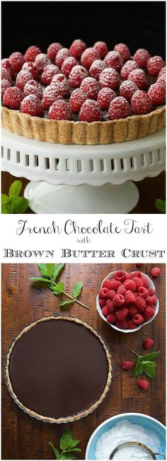 "This tart is super simple, decadent, authentically French and probably the best chocolate dessert you""ll ever meet! via @cafesucrefarine"