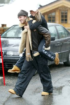 David and Victoria Beckham. So cute together!
