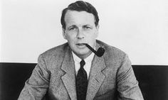 David Ogilvy with smoking pipe in New York, 1954