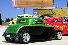 Hot Rods at drive-in