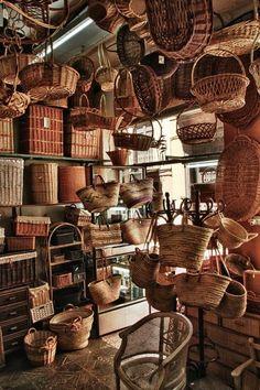 Inside the Basket Store by Alexander Zonneveld - Photo 82311657 / Sisal, Willow Weaving, Basket Weaving, Baskets On Wall, Wicker Baskets, Vintage Baskets, Basket Bag, Weaving Art, Fibres