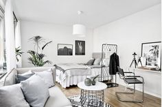 If you're moving to a studio apartment you might be interested in maximizing your new space. A studio apartment may be a more compact space, but there are several factors to take into account when you're deciding what sized space… Continue Reading → Apartment Room, Small Spaces, Interior, Apartment Interior, Home Remodeling, Home Decor, House Interior, Apartment Decor, Bedroom Decor