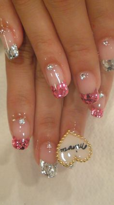 In seek out some nail designs and ideas for your nails? Here's our list of must-try coffin acrylic nails for fashionable women. Fancy Nails, Bling Nails, Cute Nails, Pretty Nails, Fabulous Nails, Gorgeous Nails, Amazing Nails, Perfect Nails, Cute Nail Designs