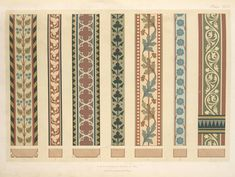 Decorations for the timbers of roofs and ceilings. by William and ...