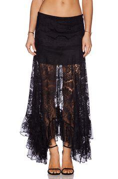 Alexis Gordan Lace Maxi Skirt in Black