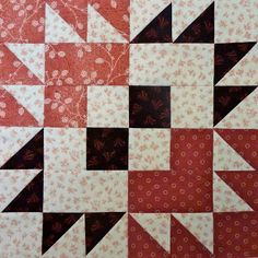 Kathy's Quilts: Saturday Sampler  link to Bear Paw Variation
