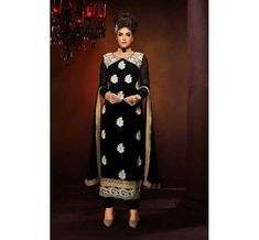 Georgette Indian Designer Embroidery Dress (CT 268)