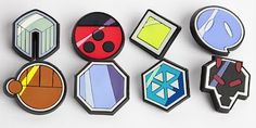 Johto Gym badges!! must.have!!