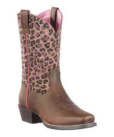 2b92a67a 10010911 Ariat Distressed/Leopard Cowboy Boot For Children Cowtown Cowboy  Outfitters