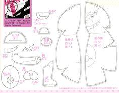 Monokuma (Dangan Ronpa) plush pattern