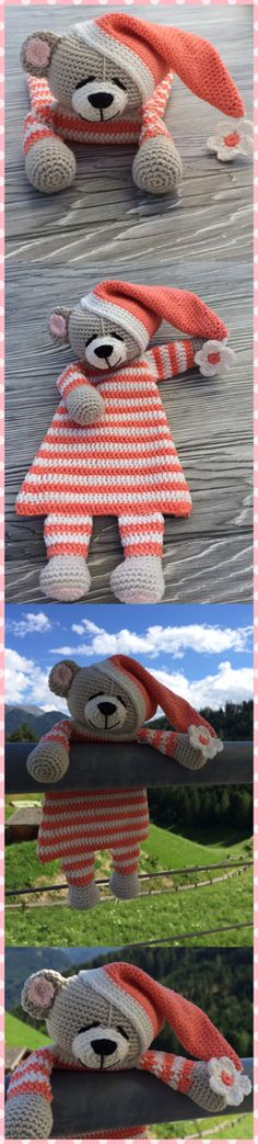 Knitted rag doll by debbie blissfree pattern knitting Crochet Security Blanket, Crochet Lovey, Crochet Baby Boots, Crochet Amigurumi, Crochet Gifts, Amigurumi Patterns, Baby Blanket Crochet, Crochet Dolls, Crochet Patterns