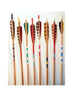 SPECIAL// 5 Vintage Painted Wood Arrows. by DragonflyGypsySoul