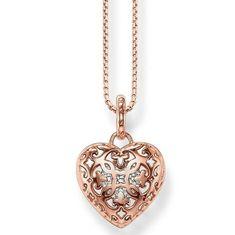 Thomas Sabo Open Heart Rose sydän+ketju SET1008-416-14 - Keskisen Kello Oy