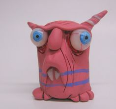 lowbrow one of a kind mini monster ooak art doll sculpture by mealy monster
