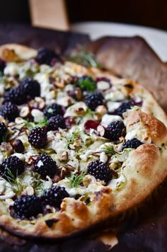 blackberries, fennel, goat cheese, hazelnut, honey, and thyme...