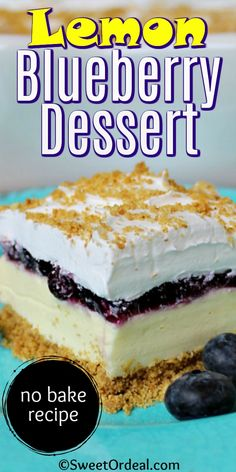 Refreshing Desserts, Cold Desserts, Lemon Desserts, Lemon Recipes, Easy Desserts, Baking Recipes, Delicious Desserts, Dessert Recipes, Yummy Food