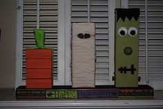 2x4 Halloween figures. I better get working on all that wood I have in the garage! Who's in?
