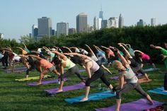 Yoga at Brooklyn Bridge Park