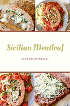 Casserole Recipes, Meat Recipes, Dinner Recipes, Cooking Recipes, What's Cooking, Beef Dishes, Food Dishes, Sicilian Recipes, Sicilian Meatloaf Recipe