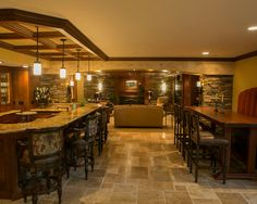 Tuscan Style basement remodel