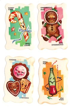 Vintage Illustration Dandy Candy Game The game cards feature adorable food illustrations. It looks like there was both a card game and a board game, by Built-Rite. The board game seems to have been a CandyLand knock-off. Vintage Games, Vintage Toys, Retro Vintage, Vintage Flash, Retro Christmas, Vintage Holiday, Xmas, Retro Poster, Vintage Posters