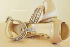 My Badgley Mischka champagne shoes!