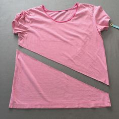 cut the t-shirt on the diagonal